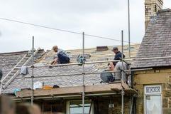 Dekorativt kritisera takåterställande i Wales Arkivbild