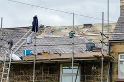 Dekorativt kritisera takåterställande i Wales Arkivfoto