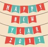 Dekorativt lyckligt nytt år 2017 Arkivbilder