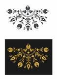 Dekorativt med tuppar stock illustrationer
