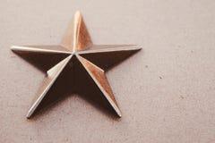 Dekorativt objekt för guld- stjärna royaltyfri bild