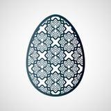 Dekorativt openwork easter ägg med den blom- modellen Arkivbilder