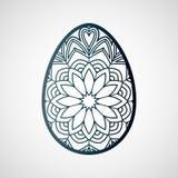 Dekorativt openwork easter ägg med den blom- modellen stock illustrationer
