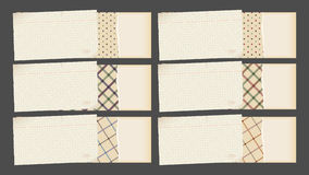 dekorativt papper för baner vektor illustrationer