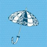 Dekorativt paraply för din design Stock Illustrationer
