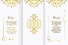 Dekorativt ram för vektor eller födelsedag- och hälsningkort som gifta sig inbjudan stock illustrationer