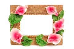 dekorativt ramfoto fotografering för bildbyråer