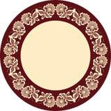 dekorativt rammotiv royaltyfri illustrationer