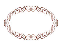 Dekorativt retro inramar också vektor för coreldrawillustration medf8ort Royaltyfri Fotografi