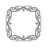 Dekorativt retro inramar också vektor för coreldrawillustration Svart vit stock illustrationer