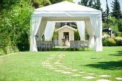 Dekorativt ställe för ceremonier eller underhållningar royaltyfria foton