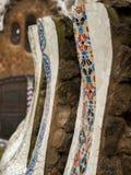 dekorativt staket arkivfoto