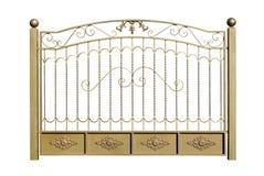 Dekorativt staket av stål arkivfoto