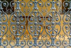 Dekorativt staket i den Sochi arboretumen, Ryssland Arkivbild