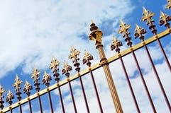dekorativt staketgaller för slott Royaltyfri Fotografi