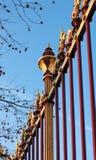 dekorativt staketgaller för slott Royaltyfria Bilder
