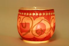 dekorativt stearinljus Arkivfoto