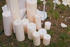 dekorativt stearinljus Fotografering för Bildbyråer