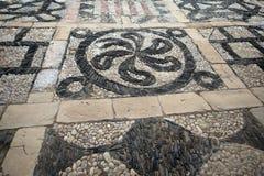 Dekorativt stena trottoar arkivfoton