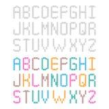 Dekorativt stuckit virkat alfabet Uppsättning av engelska bokstäver royaltyfri illustrationer