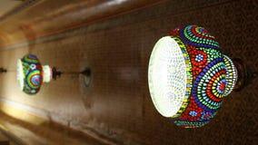 Dekorativt stycke för hus i exponeringsglas arkivfilmer
