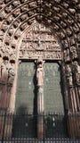 Dekorativt tillträde till kyrkan Royaltyfri Foto