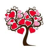Dekorativt träd med hjärtor Arkivfoton
