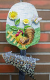 Dekorativt trädgårds- tecken Fotografering för Bildbyråer