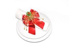 dekorativt vikt servett Royaltyfria Bilder