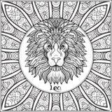 Dekorativt zodiaktecken på modellbakgrund vektor illustrationer