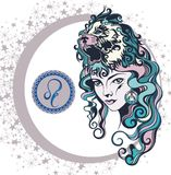 Dekorativt zodiakteckenLejonet Royaltyfri Foto