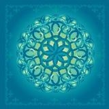 Dekorblått Arkivfoto