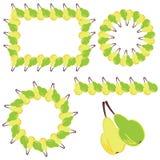 dekorelement inramniner pears Fotografering för Bildbyråer