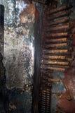 Dekoren äventyrar tunnelbanan i en bunker arkivfoto