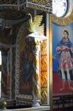 Dekorera det kyrkliga helgonet Vlasiy, Bulgarien för insidan Arkivfoto