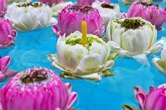 dekorera det trädgårds- damm för fritidlooklotusblomma Royaltyfria Bilder