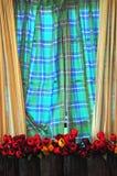 Fönster och gardin Royaltyfri Fotografi
