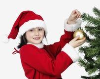 dekorera liten mas-tree x för flicka Royaltyfri Fotografi