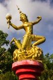 Dekorera lyktan i Wat Mokkanlan, Chomthong Chiangmai Thailand Arkivfoton