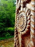 Dekorera trä royaltyfria foton