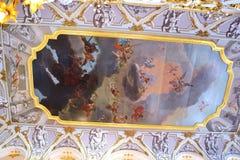 Dekorera väggarna av eremitboningen Arkivbilder