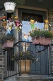 Dekorerad balkong. Fotografering för Bildbyråer