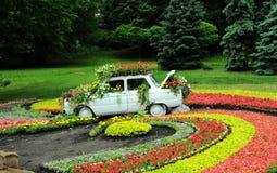 Dekorerad bil i parkera royaltyfri fotografi