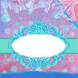 Dekorerad blå julgran. EPS 8 Fotografering för Bildbyråer
