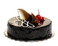 dekorerad cakeCherrychoklad Royaltyfri Bild