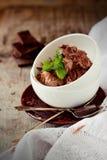 Dekorerad chokladglass Royaltyfri Foto