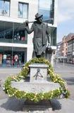 Dekorerad easter springbrunn i rzburgen för stadswü royaltyfria bilder