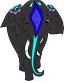 dekorerad elefantindier också vektor för coreldrawillustration royaltyfri illustrationer