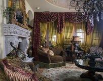 dekorerad elegant hemmiljö royaltyfri fotografi