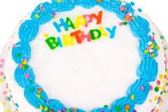 dekorerad födelsedagcake royaltyfria foton